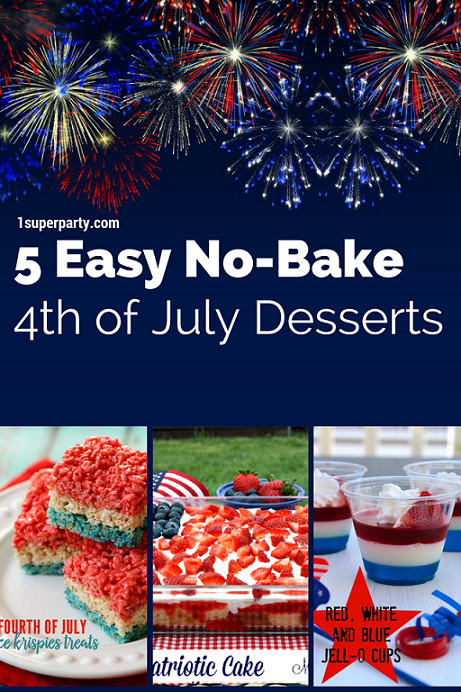 5 Easy No-Bake 4th of July Desserts